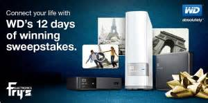 Frys Sweepstakes - fry s electronics wd 12 days of winning sweepstakes 2013 win a 47 quot lg hdtv much more