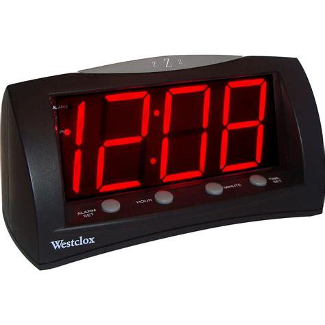 sharp led light alarm clock sharp 1 8 quot led green display alarm clock walmart com