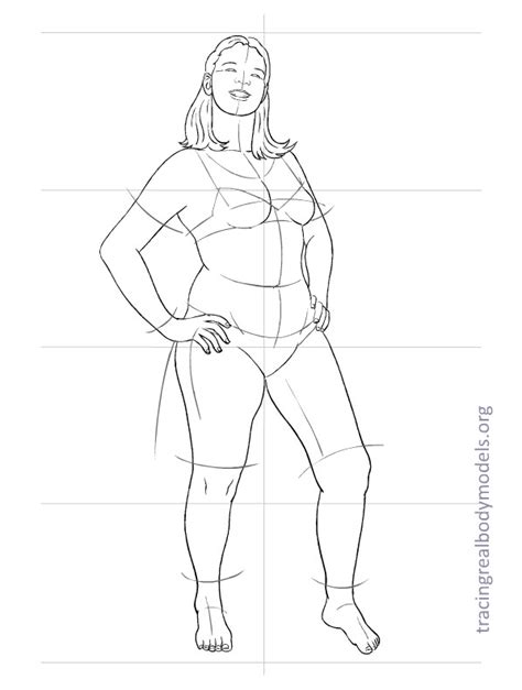 Tracing Real Body Models An Alternative To The Stereotypical Fashion Figure Templates Model Template For Designing Clothes