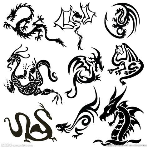 黑色古蛟龙苍龙符文图设计图 其他图标 标志图标 设计图库 昵图网nipic com