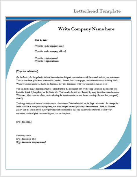 business letterhead templates microsoft word