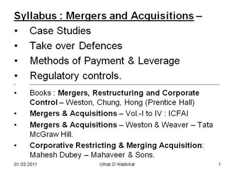 Merger And Acquisition Mba Ppt mergers acquisitions for mba pune authorstream