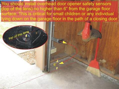 Garage Door Sensor Blinking by Garage Door Sensors Overhead Door Opener Sensor