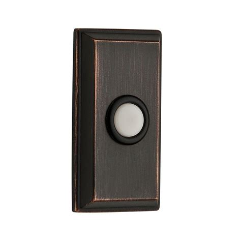 baldwin wired rectangular bell button venetian bronze
