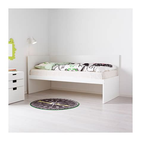 flaxa bed hack flaxa bed frm w headboard slatted bd base white 90x200 cm