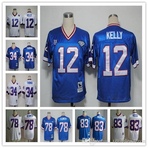 throwback blue andre reed 83 jersey most beautiful p 1202 2017 throwback 12 jim 34 thurman 78 bruce