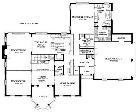 One Story Floor Plan Free Sample 3 Bedroom House Plans House Design Ideas