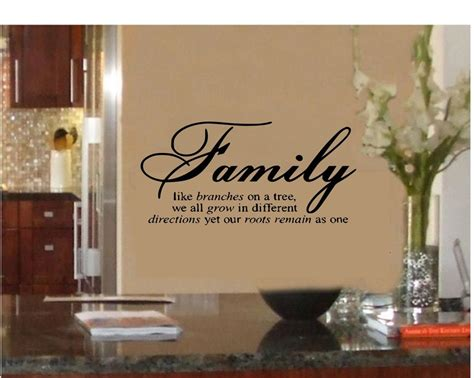 home art decor family like branches on a tree vinyl lettering wall quotes