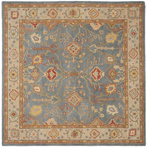 area rugs 8 ft antiquity blue ivory 8 ft x 8 ft square area rug 549