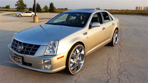 Cadillac Xts On 24s by 2009 Cadillac Sts On 24s Mustard And Mayo Bogues Check It