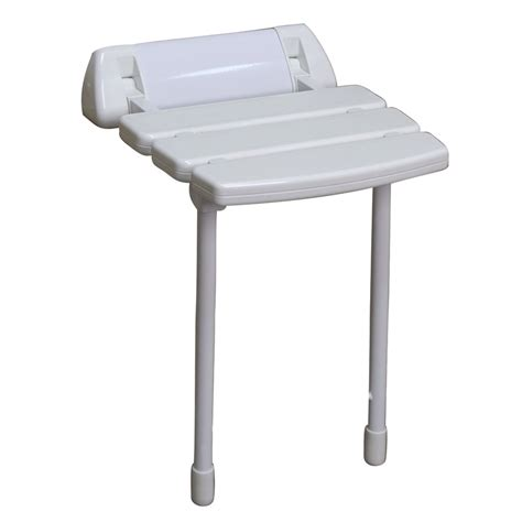 plastic shower bench shop barclay white plastic wall mount shower seat at lowes com
