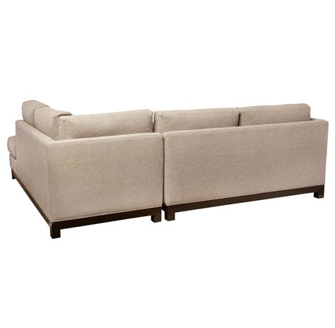 left arm facing sectional cosmo modern natural linen sofa sectional left arm