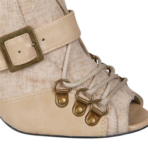Stylist Zoe On Boots by Stylist Zoe S Peeptoe Boot Beige Clothing