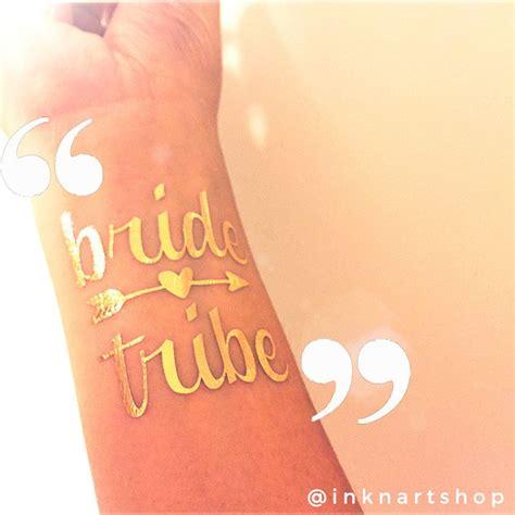 temporary tattoo custom gold metallic tribe wedding