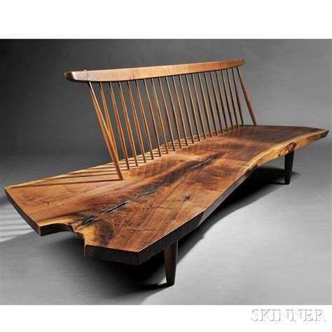 bench sale george nakashima 1905 1990 conoid bench sale number