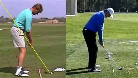 ernie els swing analysis ernie els swing analysis 1997 vs 2015 youtube