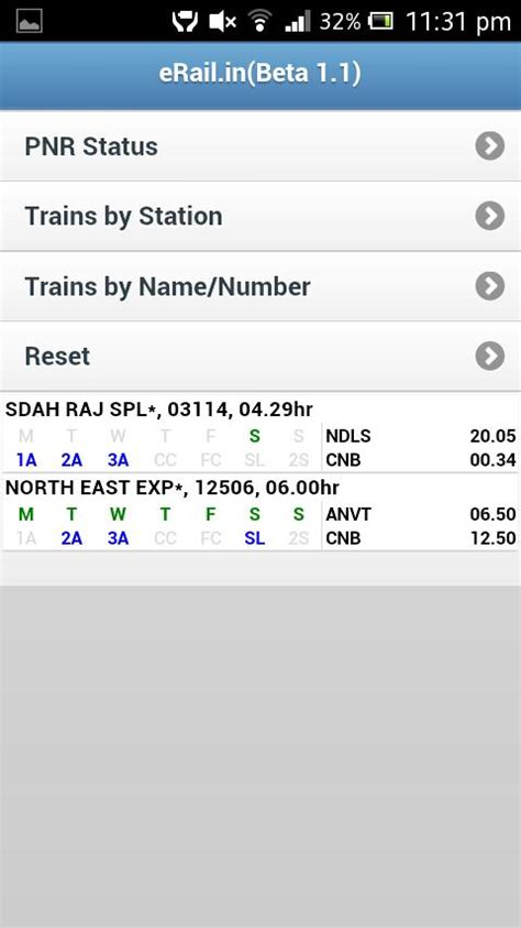 erail apk indian rail erail in android apps on play