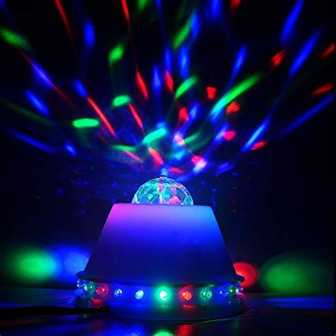 rotating led disco light seresroad 174 new rgb crystal ball led rgb automatic rotating