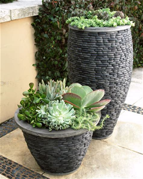 """""""River Stone"""" Planters   Contemporary   Outdoor Pots And"""