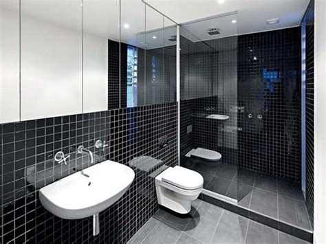 Black And White Tiled Bathroom Ideas Black And White Bathroom Tile Design Ideas Decor