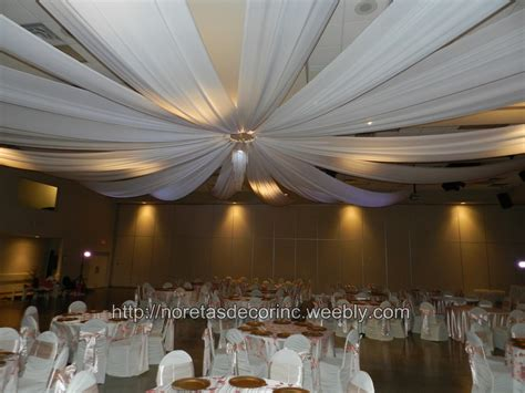 ceiling draping entrance decor noretas decor inc