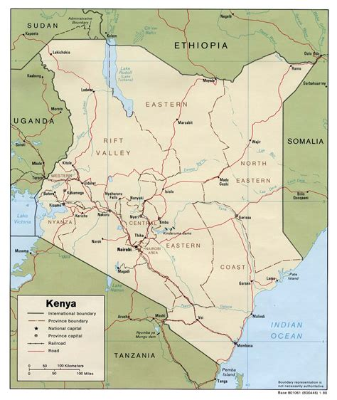 map of kenya nationmaster maps of kenya 8 in total
