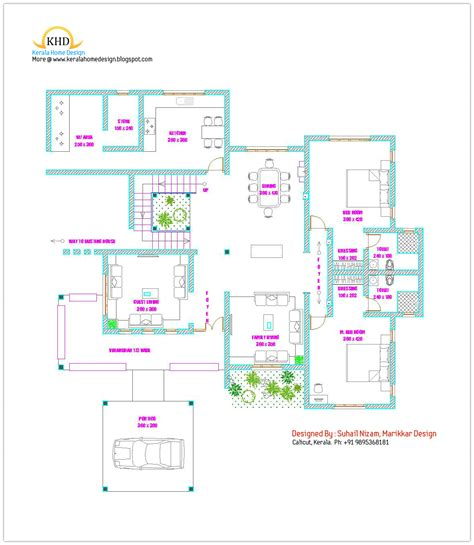 houses and floor plans home plan and elevation kerala home design and floor plans
