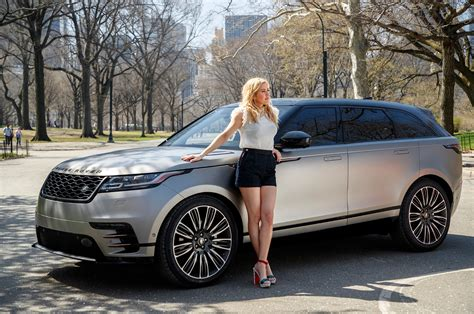 range rover velar white 2018 range rover velar takes manhattan with pop star ellie