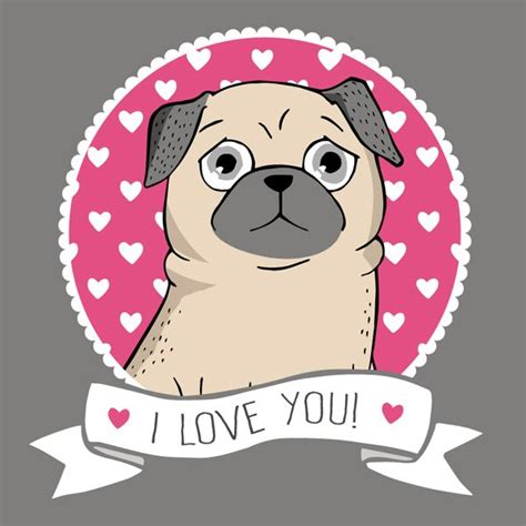 pug illustration 1000 images about pug illustrations on