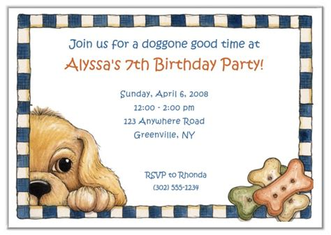 Dog Birthday Party Invitations Theruntime Com Puppy Invitation Template