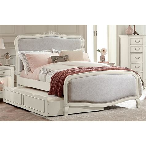 upholstered trundle bed ne kids kensington katherine full upholstered bed with