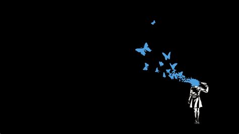 butterfly minimalism dark wallpapers hd desktop