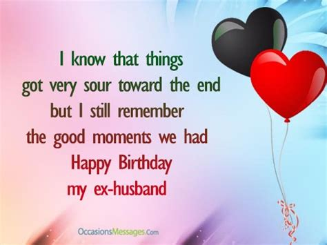 wishes to my happy birthday wishes for ex husband occasions messages