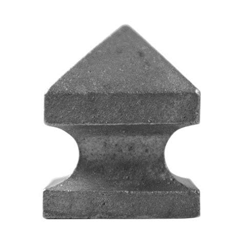 cast iron l post cast iron newel post caps fits 1 1 2 quot sq 2 6 16 quot h