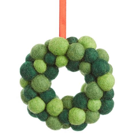 Handmade Felt - handmade felt small wreath by felt so