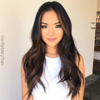 hair color for summer for asians soft blending chocolate subtle ombre on asian hair yelp