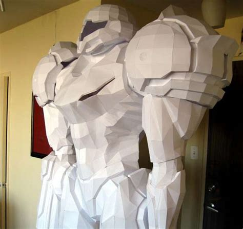 gaming character statues size papercraft samus