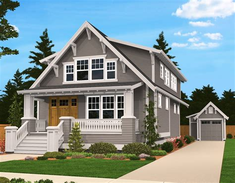 cottage house designs plan 85058ms handsome bungalow house plan bungalow