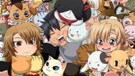 lade giapponesi dica de anime nyan koi escola de animes