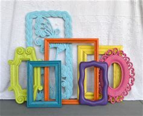 Picture Frames For Children S Bedroom Bright Painted Frames Mirror Set Of 7 Upcycled By