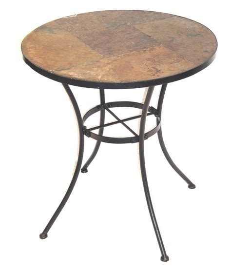 bistro bench 4d concepts metal and slate bistro table 601611