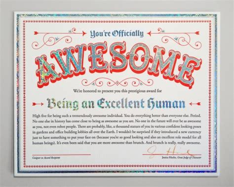 awesome certificate templates swissmiss you re officially awesome