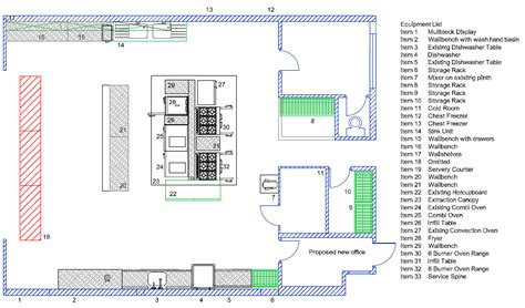 industrial kitchen design layout cad drawings dine by design