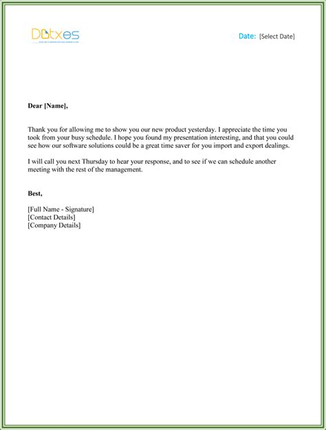Business Letter Response To Meeting business thank you letters 5 best thank you letters you