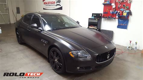 satin black maserati maserati quattroport s satin black full wrap glossy black