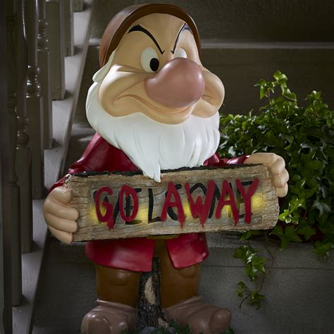 disney grumpy large solar door greeter outdoor living outdoor decor lawn ornaments statues