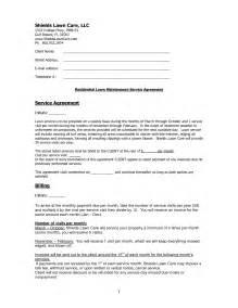 Sle Landscape Maintenance Contract by 11 Best Images Of Landscape Maintenance Agreements Sles