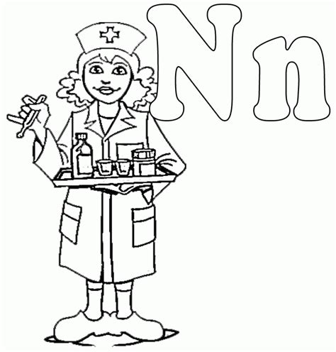 coloring pages of male nurses male nurse coloring pages