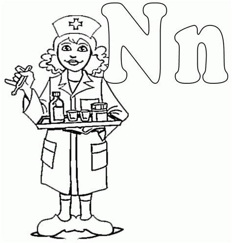 coloring page school nurse school nurse coloring pages coloring home