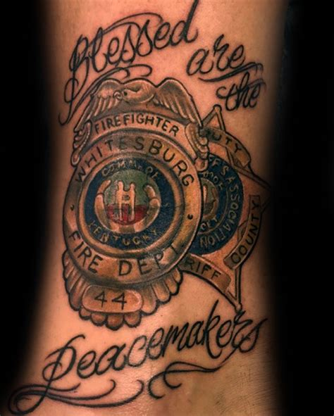 peacemaker tattoo designs 50 tattoos for enforcement officer design